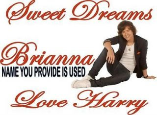 Harry Styles One Direction Personalized Pillowcase Iron on Transfer