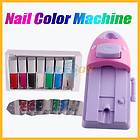 DIY Nail Art Stamping Printer Machine 7 Color paint Polish Printing