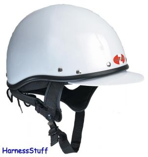 Zilco Supatop Harness Racing Helmet Riding Driving Hat White
