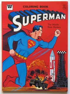 SUPERMAN COLORING BOOK   MISSILE BASE MYSTERY 1965 DC