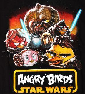 ANGRY BIRDS STAR WARS T SHIRT HAN SOLO CHEWY R2D2 LUKE SKYWALKER C3PO