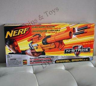 NEW NERF N STRIKE BARREL BREAK IX 2 BLASTER RIFLE GUN