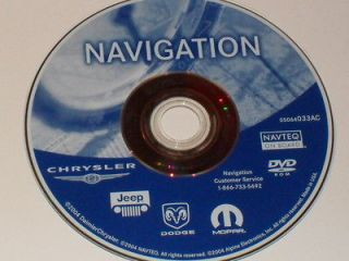 CHRYSLER DODGE JEEP NAVIGATION DISC DVD CD 033AC NAV MAP DISK GPS