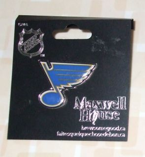 Maxwell House Coffee St. Louis Blues NHL Hockey Pin
