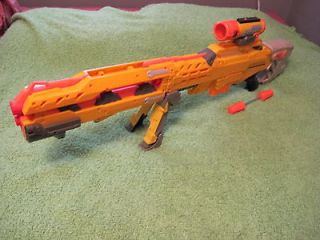 Nerf Longshot Yellow   Sniper + Tactical Scope + Ammp AWESOME! Lot E