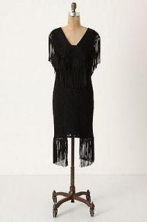 NEW Anthropologie Anna Sui Fandango Dress Size 0 Little Black Dress