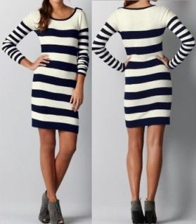 Ann Taylor Loft Rugby Stripe Sweater Dress Size XS,S,M