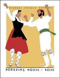Lance Hidy Boarding House Oinkari Basque Dancers Poster