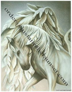 The Guardian Angel Print 5x7 Feather Wings Pegasus Horse White