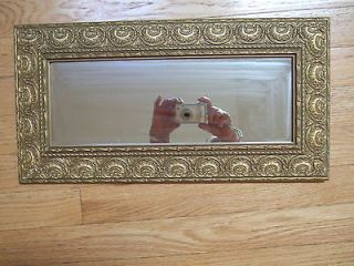 ENGRAVED WIDE GOLD GRAME MIRROR VERTICAL OR HORIZONTAL