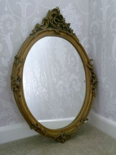 BEAUTIFUL VINTAGE ANTIQUE STYLE ROCOCO WALL MIRROR   GOLD