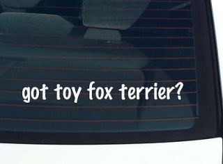 got toy fox terrier? DOG BREED DOGS FUNNY DECAL STICKER VINYL WALL CAR