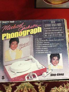 NIB Vintage Michael Jackson Vanity Record Player