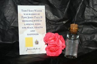 blessed by Pope John Paul II HOLY WATER   with PROOF   FROM THE NUNS