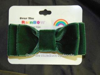 Velvet Christmas Bow Tie Hair Bows Hand Sewn Girls 3 Inch U Pick