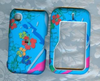 blue flower nokia 6790 Straight Talk phone cover case
