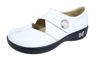 Womens Kaitlyn Professional Leather Nursing Shoes White Napa KAI 600