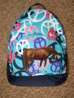 NWT Girls HORSE Backpack~OLD NAVY~Running Horses ~Back To School New