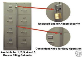 ABUS FILE CABINET LOCK, FILE CABINET BAR FOR 4 DRAWER