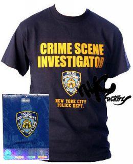 NYPD CSI CRIME SCENE INVESTIGATOR MENS T SHIRT SMALL S