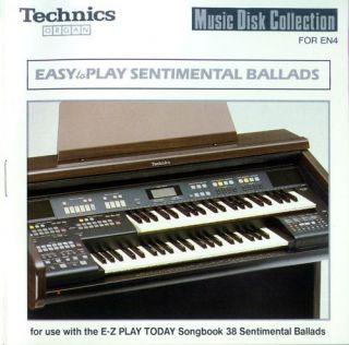 Easy To Play SENTIMENTAL BALLADS Technics EN3 EN4 organ