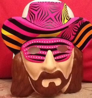 MAN RANDY SAVAGE OFFICIAL REPLICA MASK CHILD ADULT FANCY DRESS COSTUME