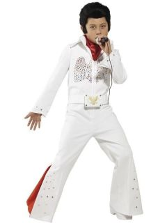 Kids Boys Elvis Presley Licensed Famous Music Smiffys Fancy Dress
