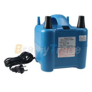 New Two Nozzles High Power Electric Balloon Inflator Air Pump For