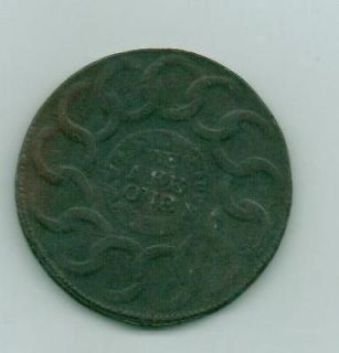 1787 US COLONIAL FUGIO CENT COPPER BECKER COIN.