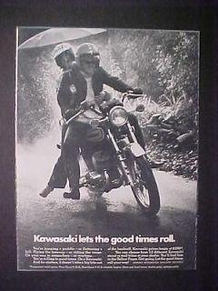 OLD ~JAPANESE KAWASAKI JAPAN MOTORCYCLE MOTOR BIKE PRINT AD~ VINTAGE