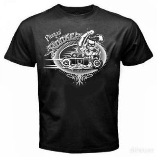 V8 Original T Shirt CRAZY HOT ROD Rockabilly RAT GREASER Old School