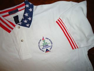 1996 New Delta Airlines US USA Olympics Olympic Atlanta Polo Shirt XL