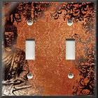 Light Switch Plate Cover   Wall Decor   Asian Buddah   Midnight