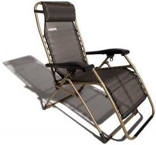 Strathwood Basics Anti Gravity Adjustable Recliner Chair Dark Brown W