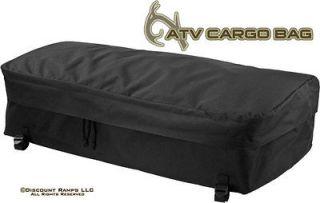 NEW BLACK ATV PACK LUGGAGE RACK BAG STORAGE GEAR BAGS (62103)