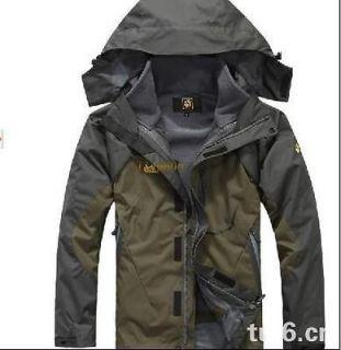 Mens Genuine two piece waterproof hooded jacket Ski suits