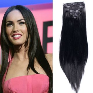 23 full head clip in hair extensions one pieces clips on