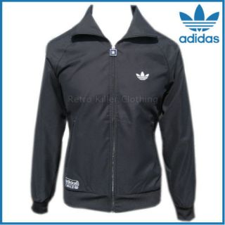 Adidas Originals Chile 62 Tracksuit Top Windbreaker Retro All Black