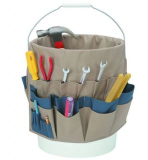 52 POCKET BUCKET TOOL ORGANIZER + LONG SHANK MAGNETIC TIP SCREWDRIVER