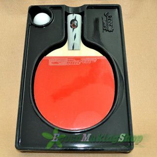 DHS Ping Pong Paddle Table Tennis Racket 3 Star Short Professional &1