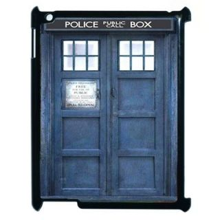 Custom Dr Who Police Call Box Blue Tardis Apple IPad 2 Hard Case Cove
