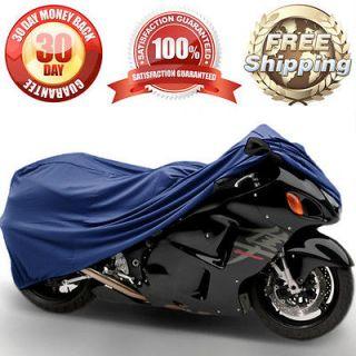 NEW STREET BIKE TRAVEL COVER MOTORCYCLE / BLUE SPORT BIKE INDOOR