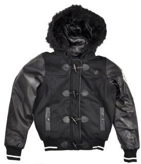 Rocawear Womens Black Wool Outerwear Coat Size S M L XL $119
