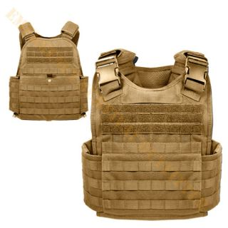 MOLLE Modular Tactical Body SAPI PLATE CARRIER Armor Vest   COYOTE TAN