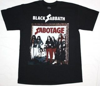 SABOTAGE75 DEEP PURPLE OZZY OSBOURNE DIO S XXL NEW BLACK T SHIRT