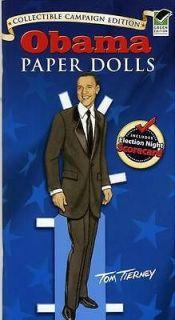 BARACK OBAMA Paper Doll Book 2008 Campaign Edition With Michelle Obama