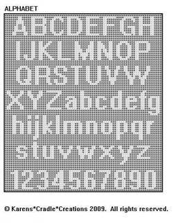 Free crochet pattern filet alphabet dancox for say it with filet crochet vintage pattern book new oop altavistaventures Images