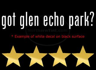 got glen echo park? Vinyl wall art car decal sticker
