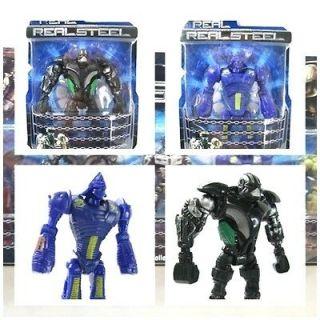 New Real Steel figures Twin Cities Midas ( Zeus & Noisy Boy) Atom Free