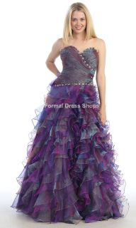 SWEET 16 QUINCEANERA PAGEANT DRESS PROM PRINCESS QUEEN MILITARY BALL